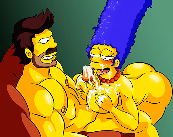 cartoon sex tags - Marge gives titjob to Darrem